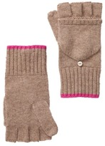 Amicale Wool Blend Flip-Top Knit Gloves