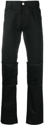 Raf Simons Ripped Panelled Knees Trousers