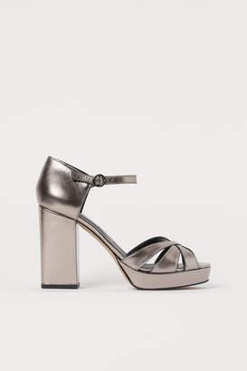 H&M Leather platform sandals