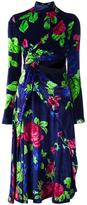 MSGM floral wrap dress - women - Viscose/Silk/Polyester - 38