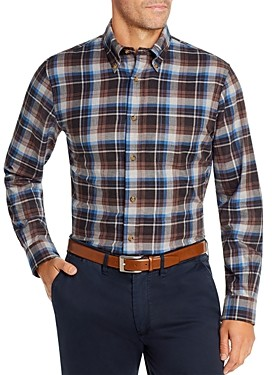 Brooks Brothers Plaid Flannel Classic Fit Button-Down Shirt