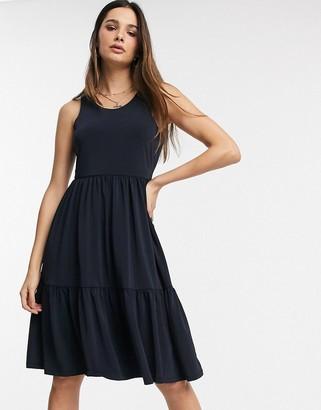LIRA Y.A.S tie back tiered midi dress