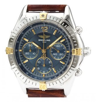 Breitling Blue gold and steel Watches