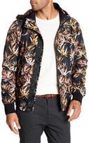 Scotch & Soda Allover Print Hooded Lightweight Jacket