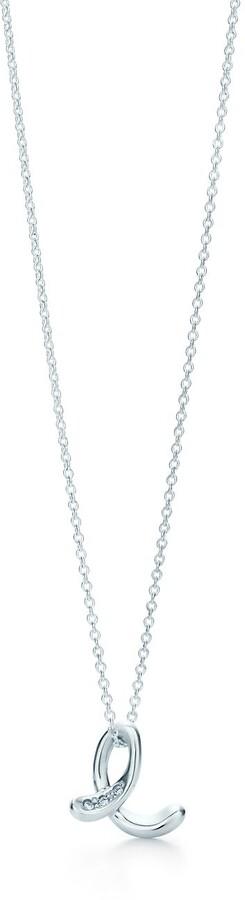 048f8f52308d2 Elsa Peretti Alphabet pendant in silver with diamonds Letters A-Z available  - Size E