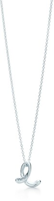 Tiffany & Co. Elsa Peretti Alphabet pendant in silver with diamonds Letters A-Z available