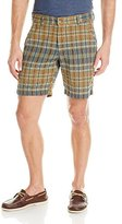Vintage 1946 Men's Textured Plaid Flat Front Short