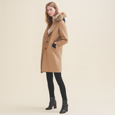 Maje Long coat in wool and cashmere