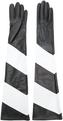 Manokhi contrast long gloves