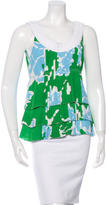 Tory Burch Silk Pleat-Accented top