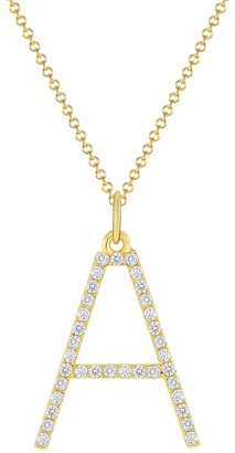 Ron Hami 14K Yellow Gold Diamond Initial Pendant Necklace - 0.16-0.52 ctw