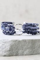 LuLu*s How I Feel Blue Velvet Bracelet
