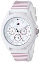 Tommy Hilfiger Women's 1781426 Analog-Display Watch with Pink Stripes