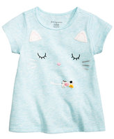 First Impressions Cat-Print T-Shirt, Baby Girls (0-24 months), Created for Macy's