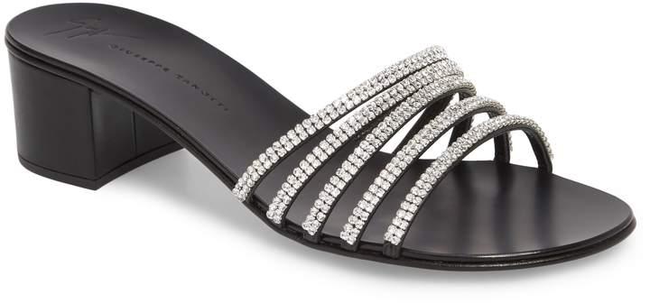Giuseppe Zanotti Swarovski Crystal Slide Sandal