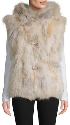 Wolfie Fur Made For Generation Coyote Fur Hooded Vest