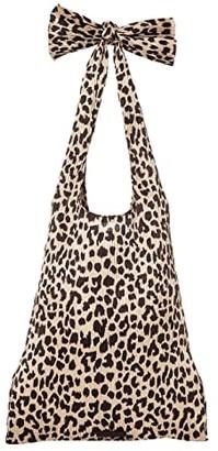 Loeffler Randall Bex Pleated Knot Shoulder Bag (Leopard) Handbags