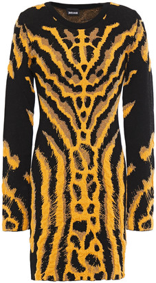 Just Cavalli Metallic Jacquard-knit Mini Dress