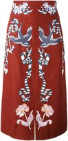 Temperley London embroidered midi skirt