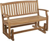 Asstd National Brand Callahan Outdoor Teak Glider Bench
