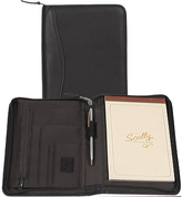 Scully Junior Zip Padfolio Italian Leather 5019Z