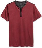 GUESS Men's Mason Jacquard Henley Shirt