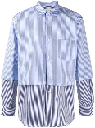 Comme des Garcons layered striped shirt