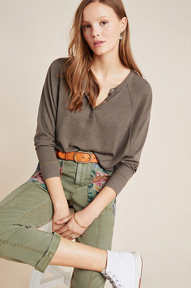 Chaser Harrieta Henley Top By in Green Size M