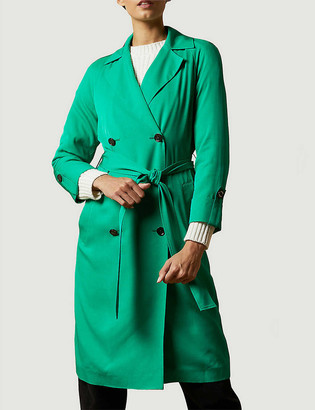 Ted Baker Sophhya double-breasted crepe trench coat