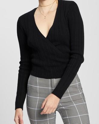 Hollister Tie Back Wrap Sweater