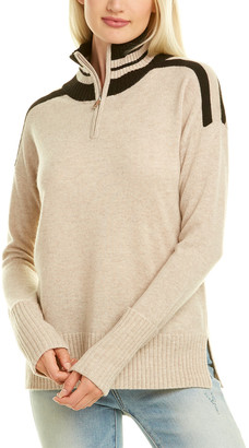 Kier & J 1/2-Zip Cashmere Sweater