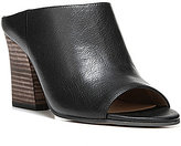 Franco Sarto Firefly Leather Slip-On Block Heel Peep Toe Mules