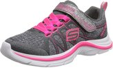 Skechers Swift Kicks Running Shoe ,Charcoal/Neon Pink
