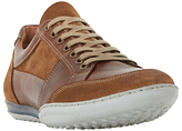 Dune Titan Mixed Leather Lace-up Trainers, Tan