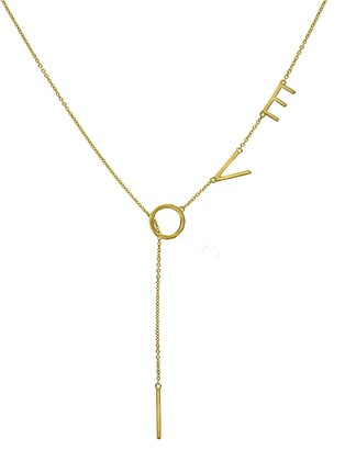 Peace Love World I Am Love Lariat Necklace