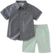 Calvin Klein 2-Pc. Cotton Chambray Shirt & Shorts Set, Baby Boys (0-24 months)