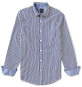 Armani Exchange Stripe Long-Sleeve Woven Shirt