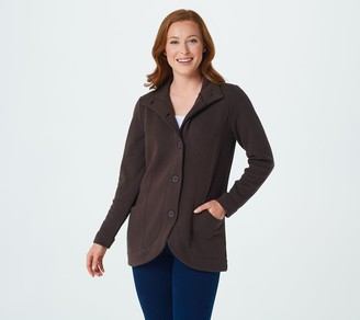 Denim & Co. Lush Lined Long-Sleeve Curved Hem Jacket
