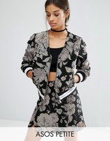 Asos Bomber In Floral Jacquard Co-ord
