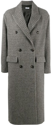 P.A.R.O.S.H. Houndstooth Double-Breasted Coat