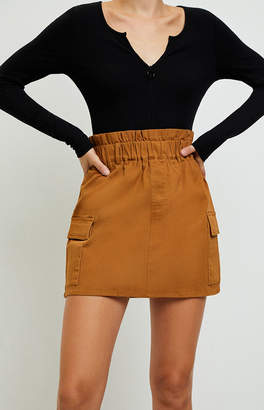 La Hearts Cargo Paperbag Waist Skirt