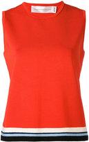 Victoria Victoria Beckham - cropped blouse - women - Wool/Viscose/Nylon/Spandex/Elastane - 6