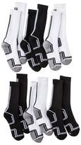 Circo Boys' 6-Pack Crew Socks - Black/White 9-2.5