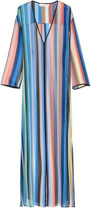 Diane von Furstenberg Striped Silk-geogette Maxi Dress
