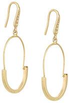 Laundry by Shelli Segal Goldtone Rhodium Wire Hoop Earrings