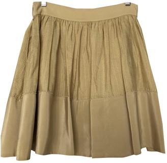 Vanessa Bruno Gold Silk Skirts