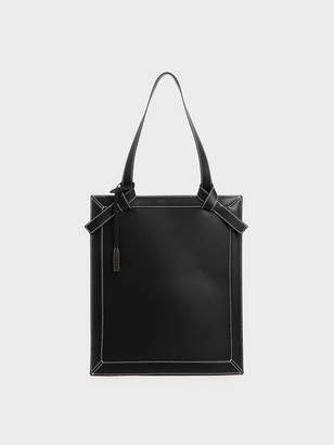Charles & Keith Large Knot Handle Elongated Tote