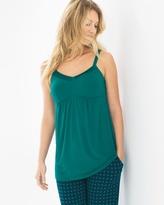 Soma Intimates Satin Trimmed Pajama Cami Green Envy