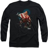Rocky 1970's Sports Boxing Action Movie Victory Adult Long-Sleeve T-Shirt