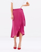 Miss Selfridge Wrap Midi Skirt